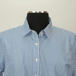 792f6ee65 NWT J. Crew Oxford Vertical Stripes Collar Shirt L